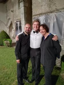 With Nathalie Stutzmann and Leon Kosavić after performing in Froville
